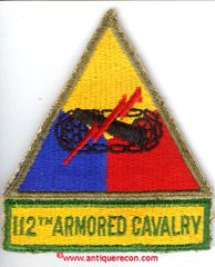 WW II US ARMY 112th ARMORED CAVALRY PATCH