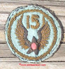 WW II US ARMY 15th AIR FORCE BULLION PATCH