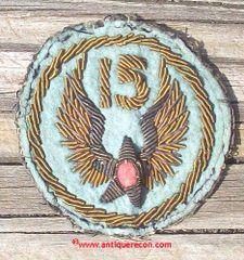 WW II US ARMY 15th AIR FORCE BULLION PATCH