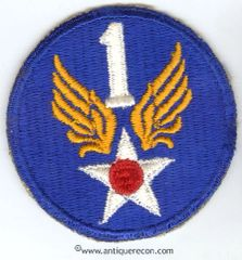 WW II US ARMY 1st AIR FORCE PATCH