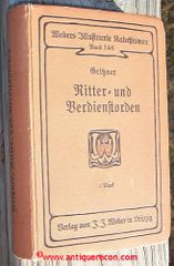 HANDBOOK OF KNIGHT AND SERVICE ORDERS IN WORLD CULTURE - 1893