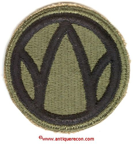 WW II US ARMY 89th INFANTRY DIVISION PATCH