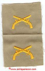 WW II US ARMY MILITARY POLICE OFFICER CLOTH COLLAR INSIGNIA