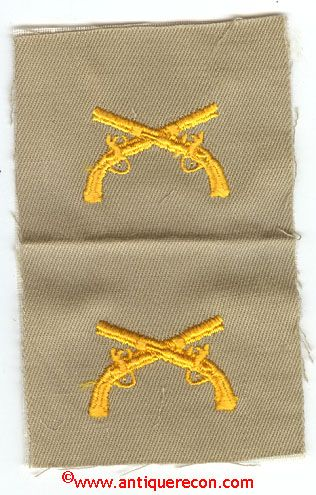 WW II US ARMY MILITARY POLICE OFFICER CLOTH COLLAR INSIGNIA