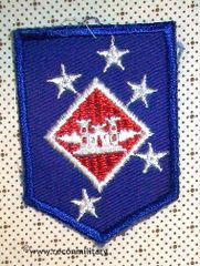 WW II US MARINE AMPHIBIOUS COMMAND AVIATION ENGINEER PATCH - SMALL SIZE