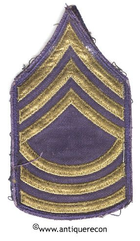 WW II US ARMY MASTER SARGENT RANK STRIPES - COMBAT