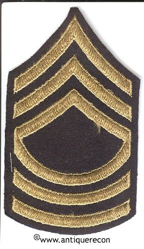 WW II US ARMY MASTER SARGENT RANK STRIPES - DRESS