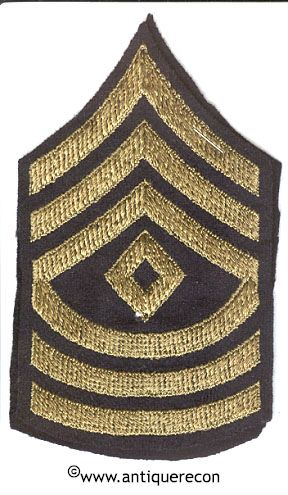 WW II US ARMY SARGENT 1st CLASS RANK STRIPES - MINT