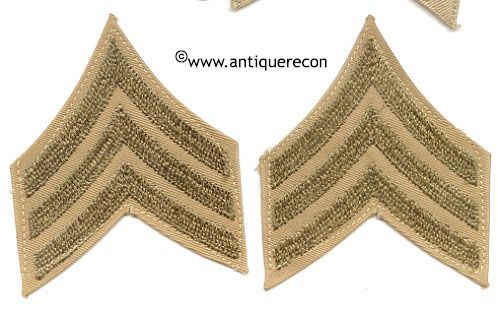 WW II US ARMY SARGENT STRIPES - CHAIN STITCH