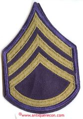 WW II US ARMY STAFF SARGENT RANK STRIPES - COMBAT
