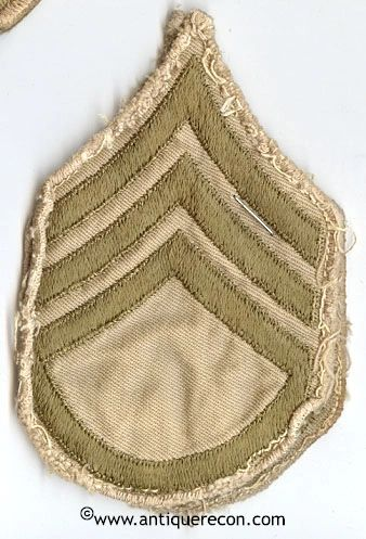 WW II US ARMY STAFF SARGENT RANK STRIPES - KHAKI
