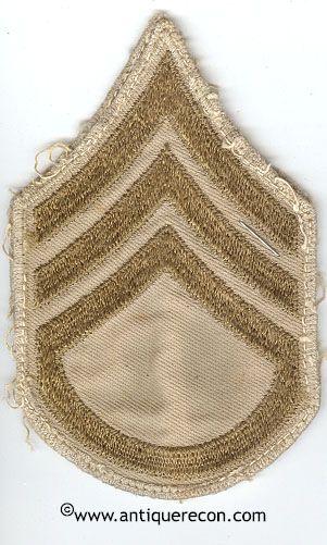 WW II US ARMY STAFF SARGENT STRIPES - USED