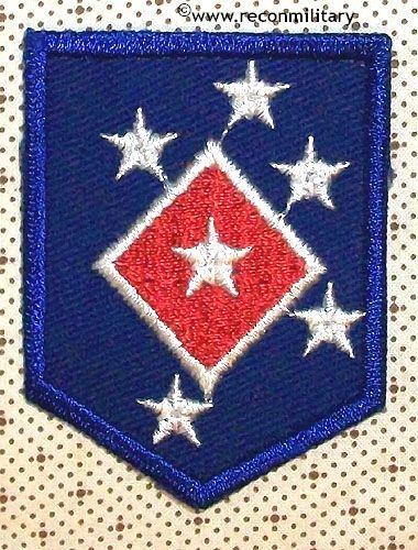 WW II US MARINE AMPHIBIOUS COMMAND SERVICE SUPPLY COMMAND PATCH - SHIRT SIZE