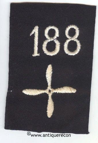 WW I US 188th AERO SQUADRON ENLISTED SLEEVE INSIGNIA