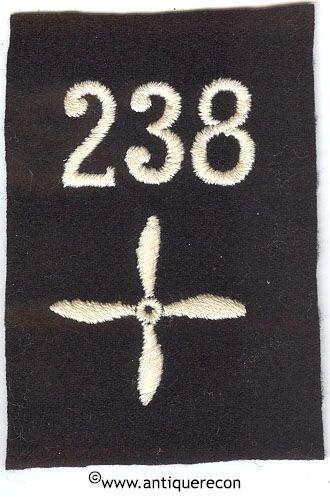 WW I US 238th AERO SQUADRON ENLISTED SLEEVE INSIGNIA