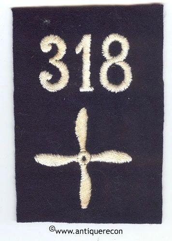 WW I US 318th AERO SQUADRON ENLISTED SLEEVE INSIGNIA