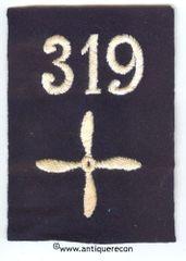 WW I US 319th AERO SQUADRON ENLISTED SLEEVE INSIGNIA