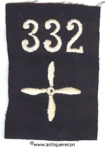 WW I US 332nd AERO SQUADRON ENLISTED SLEEVE INSIGNIA