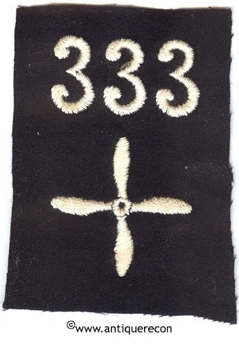 WW I US 333rd AERO SQUADRON ENLISTED SLEEVE INSIGNIA