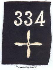 WW I US 334th AERO SQUADRON ENLISTED SLEEVE INSIGNIA
