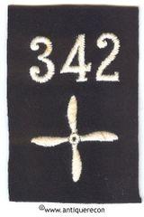 WW I US 342nd AERO SQUADRON ENLISTED SLEEVE INSIGNIA