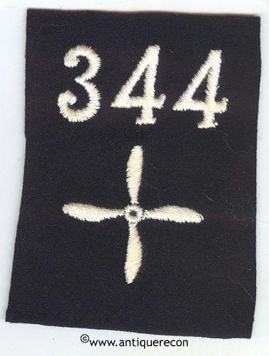 WW I US 344th AERO SQUADRON ENLISTED SLEEVE INSIGNIA