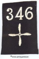 WW I US 346th AERO SQUADRON ENLISTED SLEEVE INSIGNIA