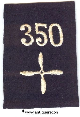 WW I US 350th AERO SQUADRON ENLISTED SLEEVE INSIGNIA