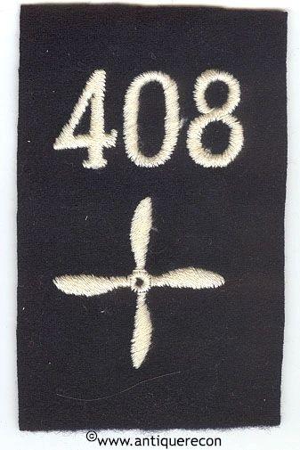 WW I US 408th AERO SQUADRON ENLISTED SLEEVE INSIGNIA
