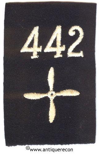 WW I US 442nd AERO SQUADRON ENLISTED SLEEVE INSIGNIA