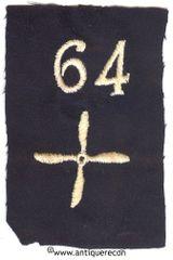 WW I US 64th AERO SQUADRON ENLISTED SLEEVE INSIGNIA