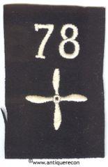 WW I US 78th AERO SQUADRON ENLISTED SLEEVE INSIGNIA