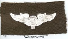 WW II US ARMY BALLOON OBSERVER WING - GABARDINE