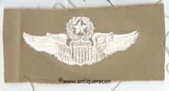 WW II US ARMY CLOTH COMMAND PILOT WINGS - KHAKI
