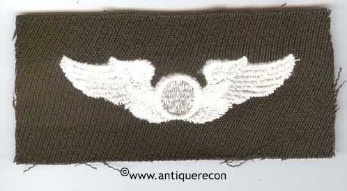 WW II US ARMY CLOTH OBSERVER WING - GABARDINE