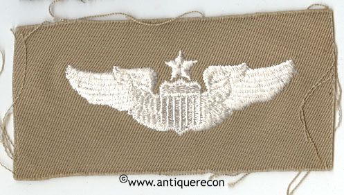 WW II US ARMY CLOTH SENIOR PILOT WING - KHAKI