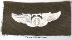 WW II US ARMY CLOTH TECHNICAL OBSERVER WING - GABARDINE