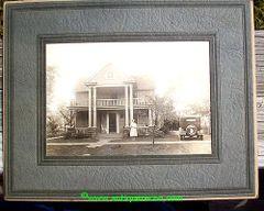 REO SILVER CLOUD & HOUSE - ENID, OK 1920's