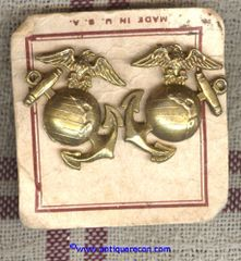 US MARINE CORPS ENLISTED COLLAR BRASS