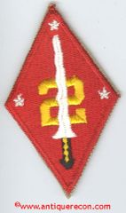 US MARINE CORPS 2nd PHILIPPINE DIVISION PATCH