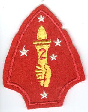 USMC 2nd MARINE DIVISION PATCH - FELT