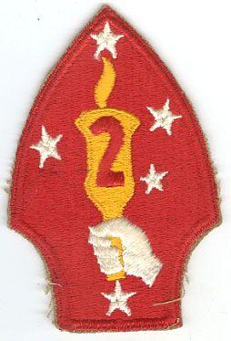 USMC 2nd MARINE DIVISION PATCH - VARIANT