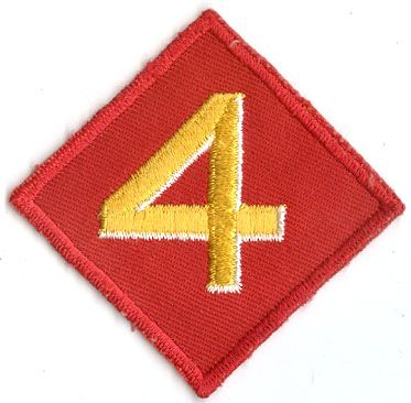 USMC 4th MARINE DIVISION PATCH on Twill