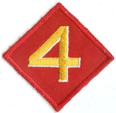 USMC 4th MARINE DIVISION PATCH on Twill
