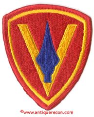 USMC 5th MARINE DIVISION PATCH