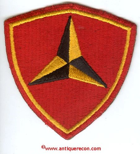 WW II USMC 3rd MARINE DIVISION PATCH