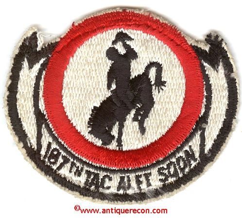 USAF 187th TACTICAL AIRLIFT SQUADRON PATCH