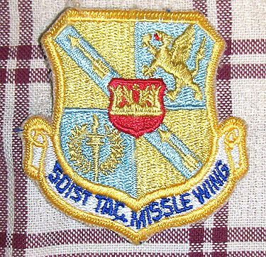 USAF 501st TACTICAL MISSILE WING PATCH
