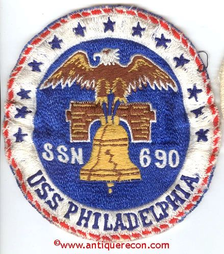 US NAVY USS PHILADELPHIA SSN 690 PATCH