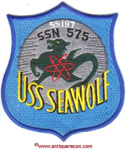 USS SEAWOLF SSN-575 PATCH